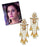 Kriaa Stone Gold Plated Five Line Dangler Earrings