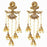 Kriaa Austrian Stone Gold Plated Pearl Dangler Earrings