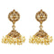 Kriaa Austrian Stone Gold Plated Pearl Jhumki Earrings