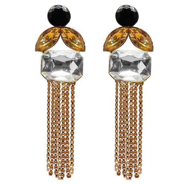 Kriaa Gold Plated Resin Stone Dangler Earring