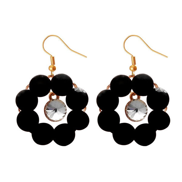 Kriaa Resin Stone Gold Plated Dangler Earring