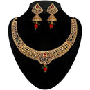 Kriaa Gold Plated Pota Stone Necklace Set