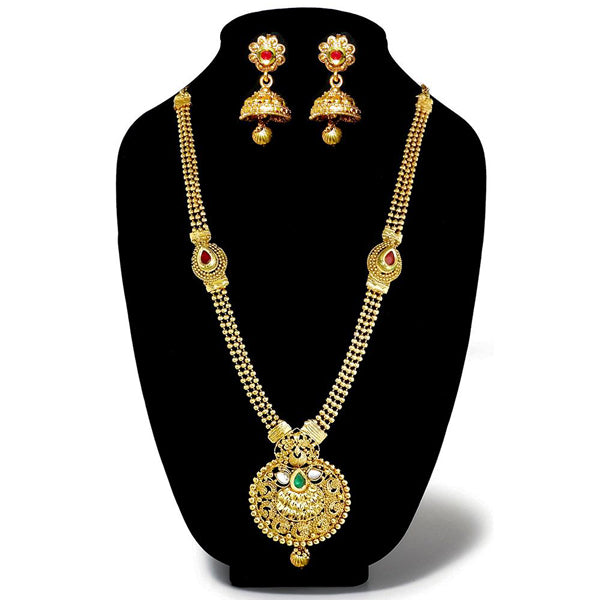Kriaa Pota Stone Gold Plated Necklace Set