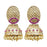 Kriaa Gold Plated Purple Austrian Stone Jhumki Earrings