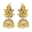 Kriaa Gold Plated Brown Austrian Stone Jhumki Earrings