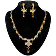 Kriaa Gold Plated White Stone Necklace Set