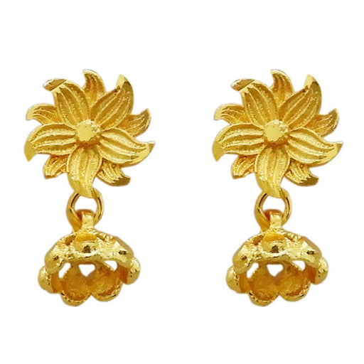 Kriaa Gold Plated Zinc Alloy Dangler Earring