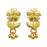 Kriaa Zinc Alloy Floral Design Gold Plated Dangler Earring