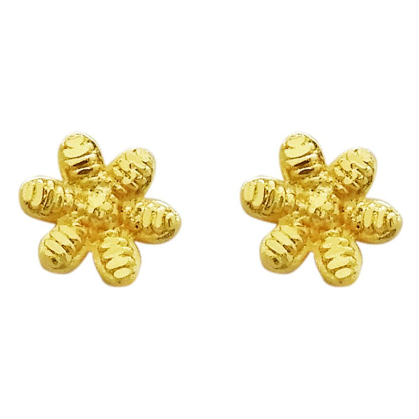 Kriaa Gold Plated Zinc Alloy Floral Stud Earring