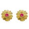 Kriaa Gold Plated Austrian Stone Heart Shape Stud Earring
