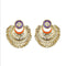 Kriaa Meenakari Gold Plated Afghani Earrings