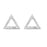 Kriaa Austrian Stone Triangle Shape Silver Plated Stud Earrings