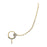 Kriaa White Stone Gold Plated Chain Nose Ring
