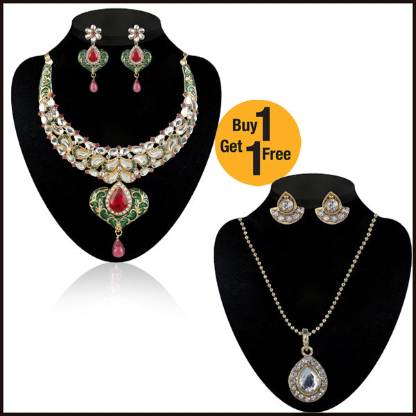 Buy 1 Necklace Set And Get 1 Necklace Free By Kriaa
