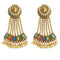 Kriaa Multi Stone Gold Plated Dangler Earrings