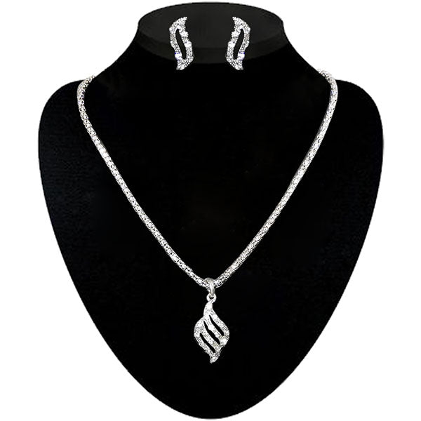 Kriaa Silver Plated Pendant Set