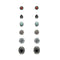 Kriaa Oxidised Plated Stud Earrings Combo Set