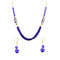 Kriaa Gold Plated Blue Beads Necklace Set