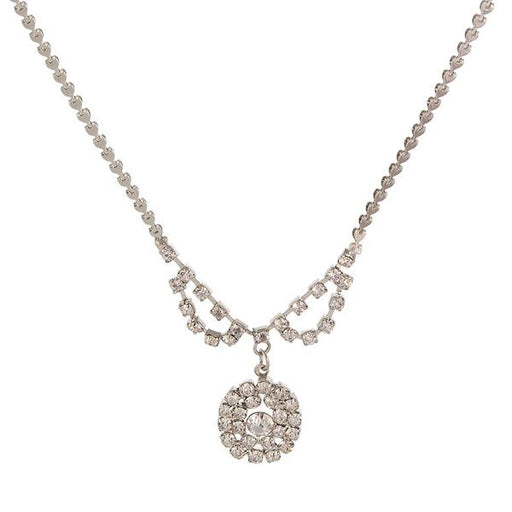 Urthn Austrian Stone Rhodium Plated Necklaces