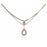Urthn White Austrian Stone Rose Gold Plated Necklaces