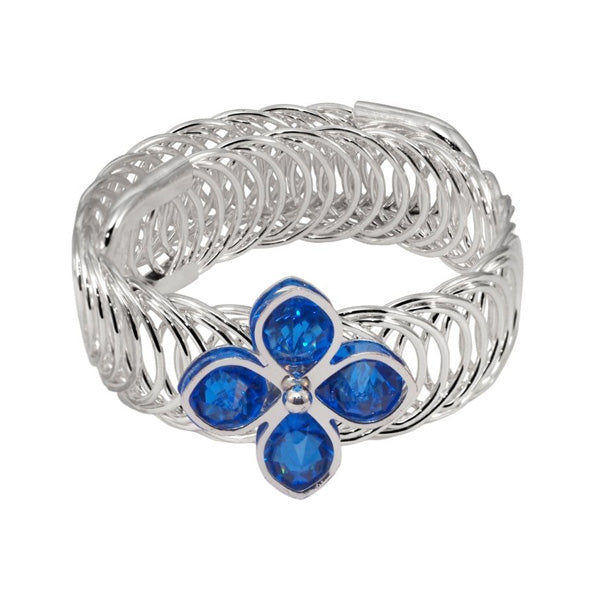 Urthn Blue Austrian Stone Silver Plated Adjustable kada