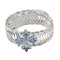 Urthn Silver Plated Blue Austrian Stone Adjustable kada