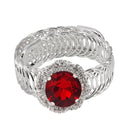 Urthn Red Austrian Stone Round Shape Adjustable kada