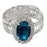 Urthn Blue Austrian Stone Oval Shape Adjustable kada