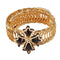 Urthn Black Austrian Stone Gold Plated Adjustable Kada