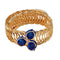 Urthn Gold Plated Blue Austrian Stone Adjustable Kada