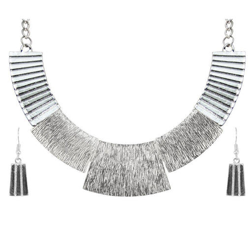 Urthn Rhodium Plated Costume Necklace Set