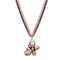 Urthn Glass Stone Two Toned Double Chain Pendant