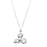 Urthn White Glass Stone Silver Plated Chain Pendant