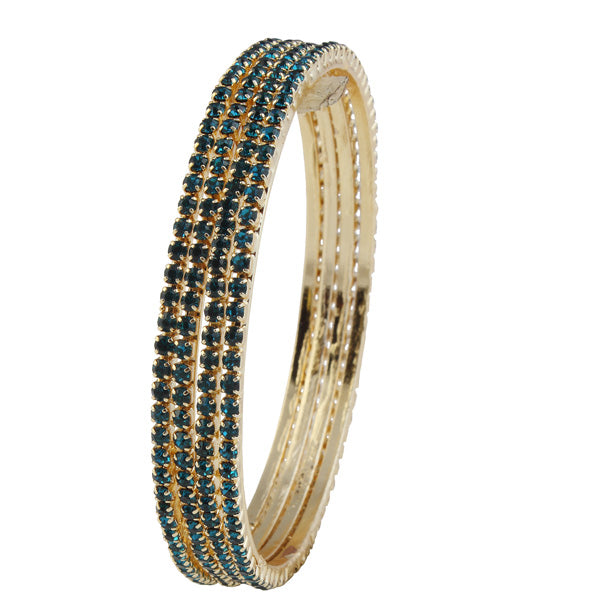 Urthn Blue Stone Set Of 4 Bangle Sets