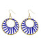 Urthn Blue Beads Gold Plated Round Shaped Dangler Earring