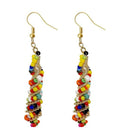 Urthn Multi Beads Gold Plated Dangler Earring