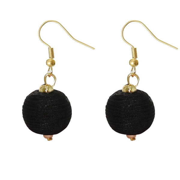 Urthn Ball Shaped Gold Plated Thread Earrings