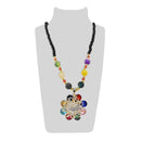 Urthn Multicolor & Stone Floral Shape Necklace