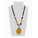 Urthn Multicolor Beads & Austrian Stone Gold Plated Necklace