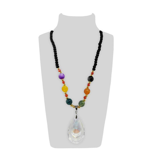 Urthn Multicolor Beads Gold Plated Necklace