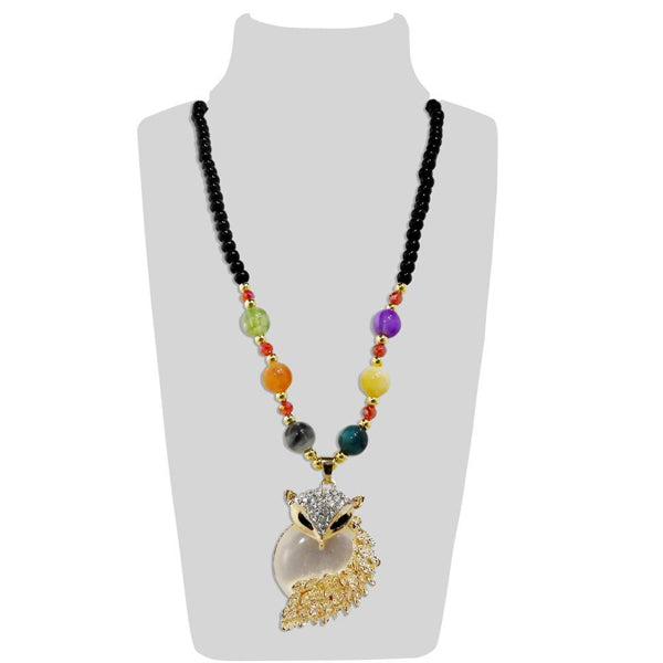 Urthn Multicolor Beads & Stone Snake Shape Necklace