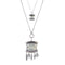 Urthn Silver Plated Crystal Stone 2 Layer Chain Necklaces