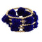 Urthn Blue Thread Gold Plated Kada