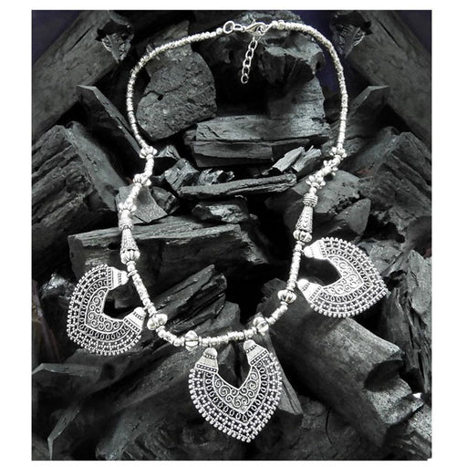 Urthn Rhodium Plated Zinc Alloy Boho Necklace