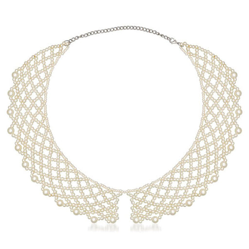 Beadside Zinc Alloy White Pearl Necklace