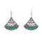 Urthn Rhodium Plated Multicolor Resin Stone Dangler Earrings