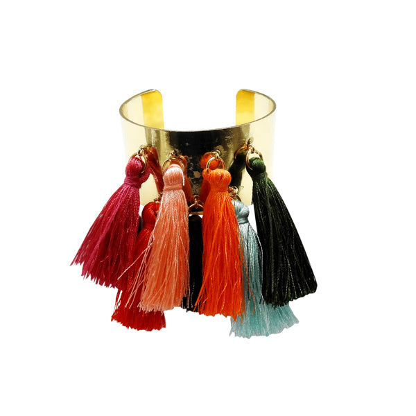 Urthn Gold Plated Multi Tassel Thread Kada