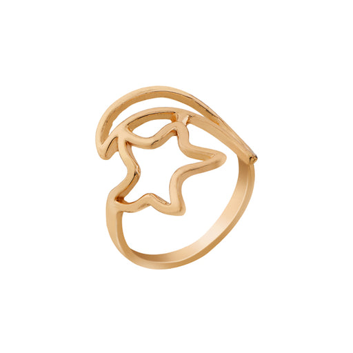 Urthn Gold Plated Star Design Ring