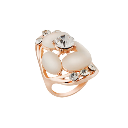 Urthn Rose Gold Plated Stone Ring