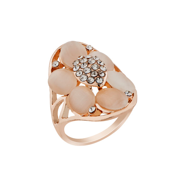 Urthn Stone Rose Gold Plated Ring